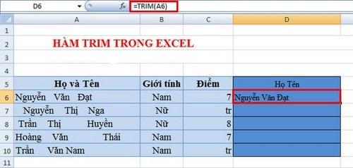 Những hàm Excel thông dụng dành cho dân văn phòng 2